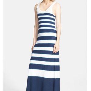 100% cotton Vince stripe maxi dress